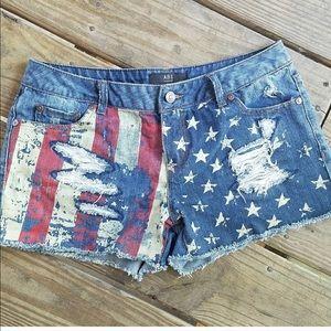 Denim shorts by Allen Schwartz ABS